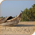 Kerala fishing boat on the beach