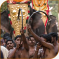 Horn blowers at Kerala temple festival